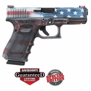 Glock 19 Gen 4 USA Battleworn Flag