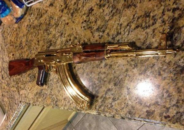 Gold Plated AK 47