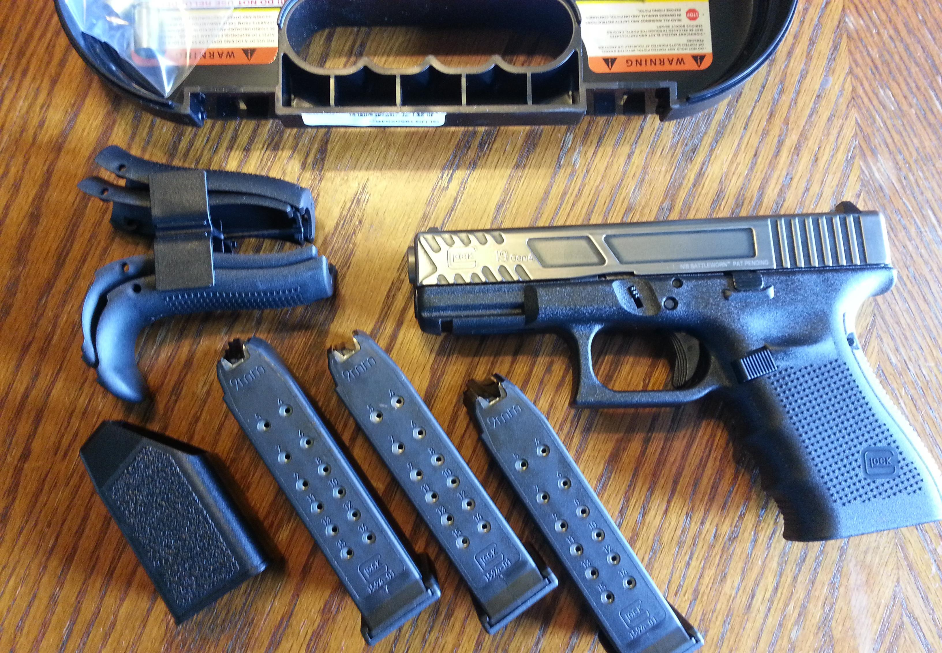 Glock 19 Gen 4 9mm Battle Worn - Buy Firearms Online|Buy Guns ...