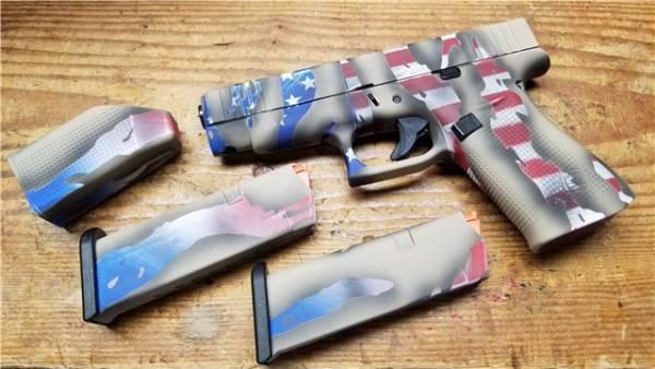 Glock 48 Custom Cerakote America flag